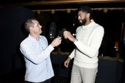 Lakers head coach Frank Vogel and Lakers star Anthony Davis attend the First Entertainment x Los Angeles Lakers and Anthony Davis Partnership Launch Event at The Theatre at Ace Hotel on March 4, 2020 in Los Angeles, California.