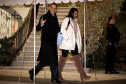 U.S. President Barack Obama and his daughter Sasha depart the White House before boarding Marine One on the South Lawn December 16, 2016 in Washington, DC. The first family is traveling to Hawaii to spend the Christmas and New Year holidays.