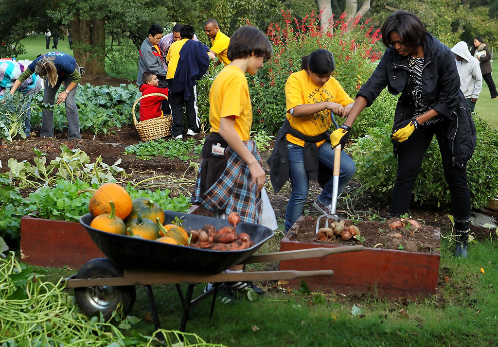 Michelle Obama Photos Photos First Lady Hosts White House Kitchen Garden Fall Harvest Zimbio