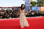 Victoria Hill walks the red carpet ahead of the 'First Reformed' screening during the 74th Venice Film Festival at Sala Grande on August 31, 2017 in Venice, Italy.