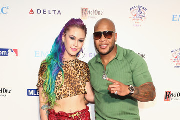Flo Rida Stayc Reign Arrivals at Baseball's All-Star Bash in NYC