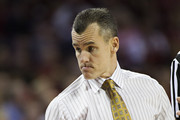 Head Coach Billy Donovan of the Florida Gators points toward his bench during a game against the Arkansas Razorbacks at Bud Walton Arena on February 5, 2013 in Fayetteville, Arkansas.