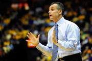 Billy Donovan, head coach of the Florida Gators instructs his players from the sideline during a game against the LSU Tigers at the Pete Maravich Assembly Center on January 12, 2013 in Baton Rouge, Louisiana.
