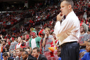 Fans cheer as Florida Gators head coach Billy Donovan looks on during the game against the Ohio State Buckeyes at Value City Arena on November 15, 2011 in Columbus, Ohio. Ohio State defeated Florida 81-74.