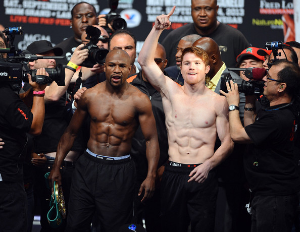Floyd Mayweather Jr. v Canelo Alvarez Weigh-In
