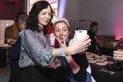Chef Christina Tosi poses with Gabriella Vigoreaux(L) during the Food Network & Cooking Channel New York City Wine & Food Festival Presented By Capital One - All About Cake Presented By PureWow Hosted By Christina Tosi of Milk Bar at Union West Events on October 13, 2018 in New York City.