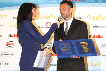 Kay Rush Football Legend Ryan Giggs At The 2011 Golden Foot Awards