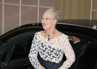 Queen Margarethe II Foreign Sovereigns Attend Dinner to Commemorate the Diamond Jubilee
