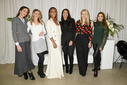 (L-R)  Cristina Ehrlich, Dr. Niamey Wilson, Janet Mock, Rosario Dawson, Sophie Elgort and Violetta Komyshan attend Forevermark Diamonds Females In Focus Photo Exhibition Event on December 6, 2018 in New York City.