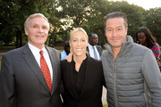 (L-R) Ray Chambers, Jennifer Smorgon and Chris Clark attend Forgive for Peace Kickoff at Mineral Springs in Central Park on September 21, 2015 in New York City.