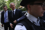 Former Prime Minister Tony Blair arrives back at his home after a press conference following the outcome of the Iraq Inquiry report on July 6, 2016 in London, England. Former British prime minister Tony Blair voiced 'sorrow, regret and apology' after a damning report on the Iraq war Wednesday, but said he did not mislead parliament and did not regret toppling Saddam Hussein. Blair made his comments at a press conference in London after publication of the long-awaited Chilcot report into Britain's role in the 2003 US-led invasion of Iraq sharply criticised him.
