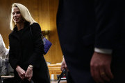 "Former CEO of Yahoo Marissa Mayer after a hearing before Senate Commerce, Science and Transportation Committee November 8, 2017 on Capitol Hill in Washington, DC. The committee held a hearing on ""Protecting Consumers in the Era of Major Data Breaches."""