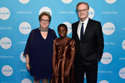 (L-R) Caryl M. Stern, CEO & President of UNICEF USA, presenter Joyce Chisale and Lawrence O'Donnell, recipient of the 2018 UNICEF Children's Champion Award, attend the Fourteenth Annual UNICEF Gala Boston 2018 on May 23, 2018 in Boston, Massachusetts.