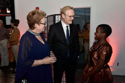 (L-R) Caryl M. Stern, CEO & President of UNICEF USA, Lawrence O'Donnell, recipient of the 2018 UNICEF ChildrenÕs Champion Award, and presenter Joyce Chisale attend the Fourteenth Annual UNICEF Gala Boston 2018 on May 23, 2018 in Boston, Massachusetts.