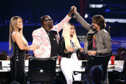 (L-R) American Idol judges Mariah Carey, Randy Jackson,  Nicki Minaj, and Keith Urban are seen onstage during Fox's 'American Idol'Finale Results Show at Nokia Theatre L.A. Live on May 16, 2013 in Los Angeles, California.