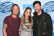 (L-R) Musicians Keith Urban, Jennifer Lopez ,  attends Fox's 'American Idol XIV' Red Carpet Event at CBS Televison City on December 9, 2014 in Los Angeles, California.
