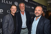 """Actor Benjamin McKenzie, executive producers Bruno Heller and Danny Cannon attend Fox's """"Gotham"""" Season Finale Screening at Landmark Theatre on April 28, 2015 in Los Angeles, California."""