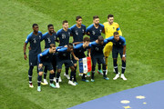 France players pose for a team photo prior to the 2018 FIFA World Cup Final between France and Croatia at Luzhniki Stadium on July 15, 2018 in Moscow, Russia.