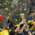 Hugo Lloris Photos - Hugo Lloris of France lifts the World Cup trophy to celebrate with his teammates after the 2018 FIFA World Cup Final between France and Croatia at Luzhniki Stadium on July 15, 2018 in Moscow, Russia. - France v Croatia - 2018 FIFA World Cup Russia Final