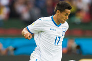 Andy Najar of Honduras dominate the ball during the 2014 FIFA World Cup Brazil Group E match between France and Honduras at Estadio Beira-Rio on June 15, 2014 in Porto Alegre, Brazil.