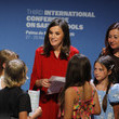 Francina Armengol Queen Letizia Of Spain Attends The Closure Of The 'International Conference On Safe Schools' 2019