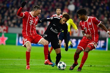 Franck Ribery David Alaba Bayern Muenchen v Paris Saint-Germain - UEFA Champions League