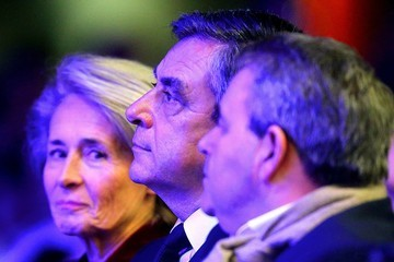 Francois Fillon Francois Fillon Holds a Rally Party In Compiegne