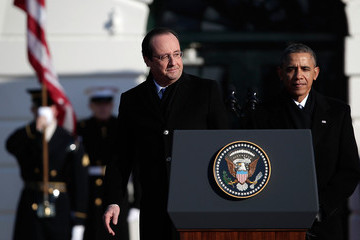 Francois Holland President Obama And First Lady Welcome French President  Hollande To The White House