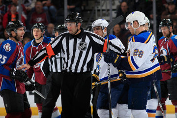 Francois St. Laurent St Louis Blues v Colorado Avalanche