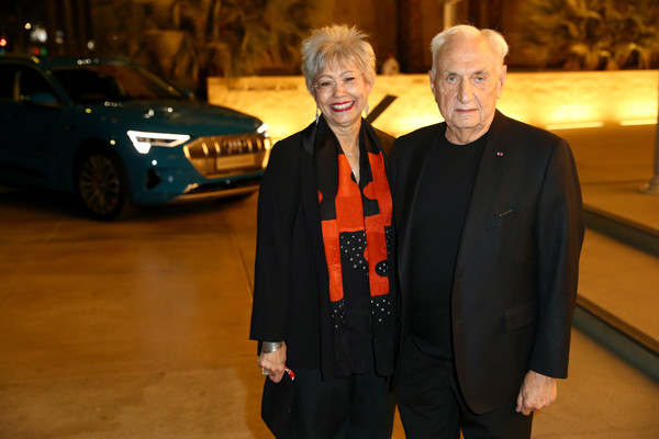 Audi At LACMA Art+Film Gala [vehicle,car,luxury vehicle,automotive design,event,compact car,personal luxury car,mid-size car,family car,suit,berta isabel aguilera,frank gehry,catherine opie,los angeles,california,lacma,audi,l,gucci,lacma art film gala]
