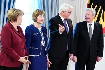 Frank-Walter Steinmeier Joachim Gauck German Chancellor Angela Merkel Attends the President's New Year's Reception
