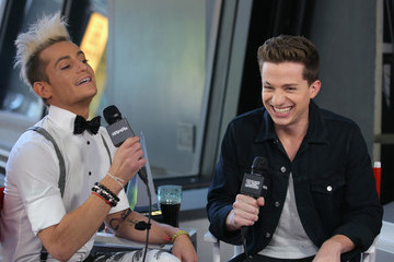 Frankie Grande Charlie Puth 2015 American Music Awards Nominations Announcement at 'GMA'