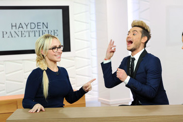 Frankie Grande Hayden Panettiere Appears On Amazon's Style Code Live