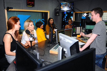 Frankie Sandford The Saturdays Visit Kiss FM