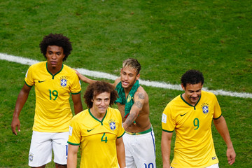 Fred David Luiz Cameroon v Brazil: Group A - 2014 FIFA World Cup Brazil