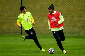 Fred David Luiz Brazil Training Session