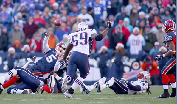 New England Patriots v Buffalo Bills [player,sports,sports gear,canadian football,gridiron football,team sport,sprint football,ball game,football gear,american football,trent edwards,fred jackson,ball,orchard park,new york,ralph wilson stadium,new england patriots,buffalo bills]