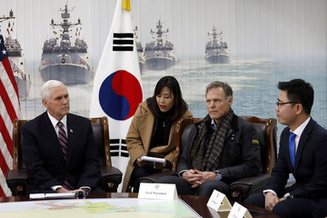 Fred Warmbier U.S. Vice President Mike Pence Visits South Korea - Day 2