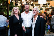 (L-R) Nightclub owner Amy Sacco, art consultant Michiel Van Der Wal, and stylist Ric Pipino attend the Frederique's Choice US Launch Party at Gallow Green at The McKittrick Hotel on September 29, 2015 in New York City.