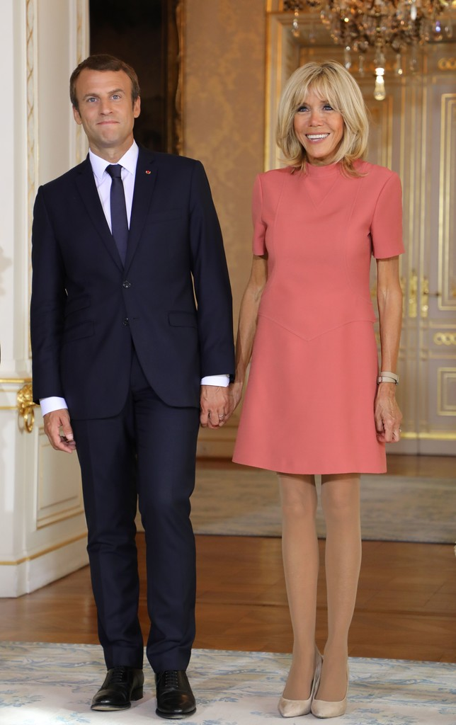 Emmanuel Macron Brigitte Macron Emmanuel Macron Photos French President Emmanuel Macron And Wife Brigitte Trogneux On A One Day State Visit In Luxembourg Zimbio