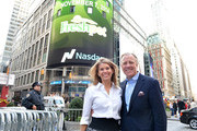 Richard Thompson, Chief Executive Officer of Freshpet, Inc and guest visit the Opening Bell at NASDAQ MarketSite on November 7, 2014 in New York City.