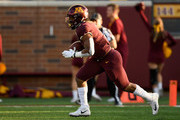 Rodney Smith #1 of the Minnesota Golden Gophers returns the opening kickoff against the Fresno State Bulldogs during the first quarter of the game on September 8, 2018 at TCF Bank Stadium in Minneapolis, Minnesota.