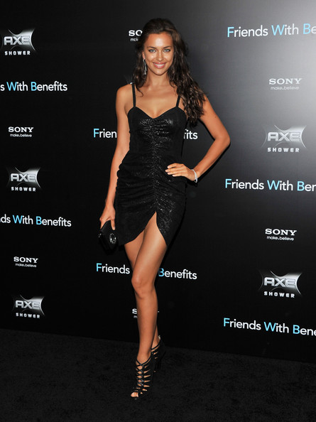 "Model Irina Shayk attends the ""Friends with Benefits"" premiere at Ziegfeld Theater on July 18, 2011 in New York City."