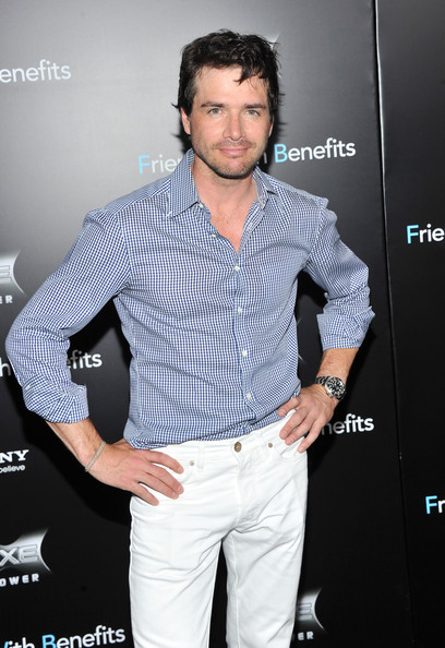 "Matthew Settle attends the ""Friends with Benefits"" premiere at Ziegfeld Theater on July 18, 2011 in New York City."