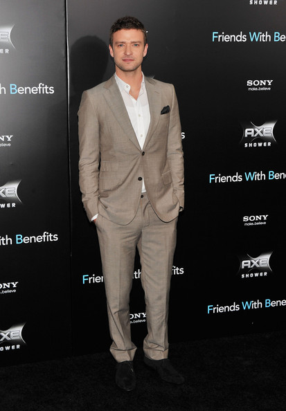 "Justin Timberlake attends the ""Friends with Benefits"" premiere at Ziegfeld Theater on July 18, 2011 in New York City."