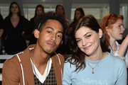 "Jordan ""Rizzle"" Stephens and Amber Anderson attend the Christopher Raeburn show during London Fashion Week Men's June 2017 collections on June 11, 2017 in London, England."