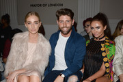 Sam Giffen (C) and Charlotte Dawson (R) attend the Fun Affair show at Fashion Scout during London Fashion Week Spring/Summer collections 2017 on September 20, 2016 in London, United Kingdom.