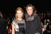Actress Andrea Powell (L) and television personality LuAnn de Lesseps attend Carmen Marc Valvo fashion show during Mercedes-Benz Fashion Week Fall 2014 at The Salon at Lincoln Center on February 7, 2014 in New York City.