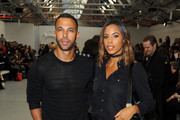 Marvin Humes and Rochelle Humes attend the Xiao Li show during London Fashion Week Autumn/Winter 2016/17 at Brewer Street Car Park on February 23, 2016 in London, England.