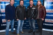 Recording Artists Richie McDonald, Larry Stewart, Tim Rushlow and Donnie Reis of The Frontmen arrive at SiriusXM Nashville Studios at Bridgestone Arena on March 21, 2018 in Nashville, Tennessee.